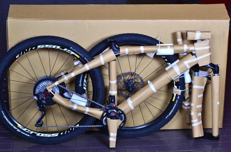 Ejemplo de embalar una bicicleta