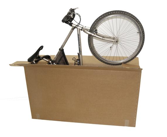 Bicicleta en una caja